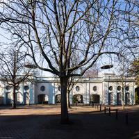 Bruchsal - Belvedere / Schießhaus - Von Außen / Von Osten - Blick auf die Ostfassade des Belvedere (aufgenommen im Januar 2019, am späten Vormittag)