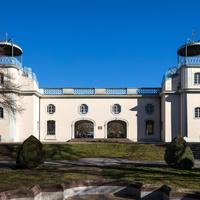 Bruchsal - Belvedere / Schießhaus - Von Außen / Von Westen - Blick auf die Westfassade des Belvedere (ursprünglich erbaut 1756-61 nach Plänen von Leonhard Stahl) (aufgenommen im Februar 2019, am Nachmittag)