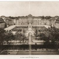 Schloss Bruchsal - Das Schloß zu Bruchsal (Damiansburg) von Osten her - Hans Rott / Franz Xaver Kraus: Die Kunstdenkmäler des Amtsbezirks Bruchsal - 1913