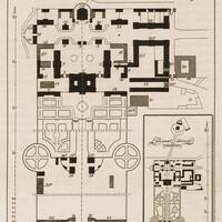 Schloss Bruchsal - Übersichtsplan zu Schloss Bruchsal - Hans Rott / Franz Xaver Kraus: Die Kunstdenkmäler des Amtsbezirks Bruchsal - 1913